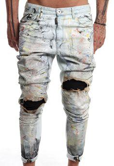 burned coloured jeans #handmade #man #denim #vagrancylifestyle