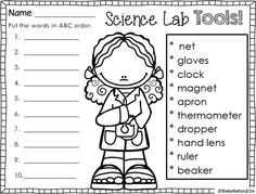 Worksheet Science Tools Worksheet science tools worksheet for elementary activities and on pinterest