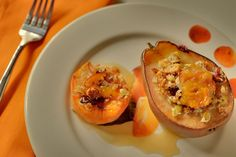 Kitchen Kush: Baked seasonal fruit with maple drizzle (recipe)