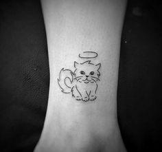 Top Fashion Tattoos – Tattoos That Marked This Year Mini Tattoos, Black Cat Tattoos, Trendy Tattoos, Animal Tattoos, Body Art Tattoos, Cool Tattoos, Kitten Tattoo, Cute Cat Tattoo, Taz Tattoo