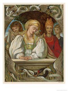 The Wild Swans -- Eleanor Vere Boyle -- Fairytale Illustration