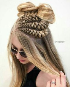 60 Gorgeous Loose Braided Hairstyles For Long Hair To Make You Stand Unique # loose Braids makeup 60 Gorgeous Loose Braided Hairstyles For Long Hair To Make You Stand Unique # loose Braids makeup # loose Braids makeup Half Braided Hairstyles, Pretty Hairstyles, Hairstyles 2016, Hairstyle Ideas, Simple Hairstyles, Elegant Hairstyles, Wedding Hairstyles, Infinity Braid, Natural Hair Styles
