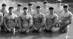 A group of Royal Marines have quite literally 'gone commando' - by launching a raunchy charity calendar. The men were from 40 Commando RM in Taunton, Somerset. British Marine, Green Beret, Royal Marines, Portraits, Men In Uniform, Pictures Of The Week, Military Men, Military Personnel, Military History