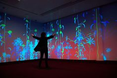Sur-natures by Miguel Chevalier at Paris-Charles de Gaulle Airport...Digitalarti installed an immersive and interactive artwork on 3 walls of the new international terminal boarding space (CDG, terminal 2E, gate M23).