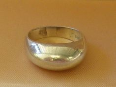 Vintage Large Unisex Sterling Silver Dome Ring Size 8 1/2 US