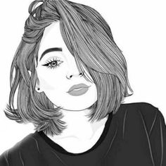 Bleistiftzeichnung Artwork – Alice Weeke – Join the world of pin Tumblr Girl Drawing, Tumblr Sketches, Girl Drawing Sketches, Girly Drawings, Outline Drawings, Girl Sketch, Drawing Eyes, Tumbler Drawings, Girl Outlines