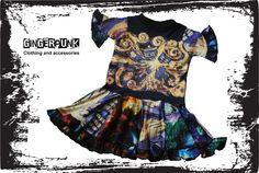 This exploding TARDIS tee shirt transformed into a breathtaking upcycle dress!