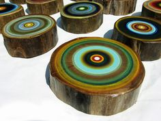 Tree Ring Paintings by Tracy Melton