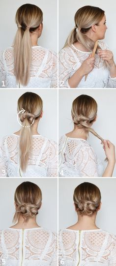 69 Ideas for hair bun updo tutorial Prom Hair Updo, Hair Dos, Work Hairstyles, Bride Hairstyles, Coque Vintage, Natural Hair Styles, Short Hair Styles, Hair Upstyles, Updo Tutorial