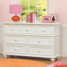 The CafeKid Hailey dresser has a lot of drawer space and works well in our girls' room.
