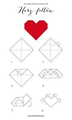 Die Möglichkeiten dieses Origami Herz einzusetzen sind unglaublich vielfältig
