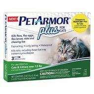 PETARMOR Plus for Dogs Flea and Tick Prevention for Dogs, Long-Lasting & Fast-Acting Topical Dog Flea Treatment, 3 Count, PetArmor Plus Flea & Tick Prevention for Large Dogs with Fipronil to 88 Pounds), 3 Monthly Treatments Flea Treatment, Fat Cats, Cats And Kittens, Killing Fleas, Frontline Plus For Cats, Ticks Remedies, Tick Control