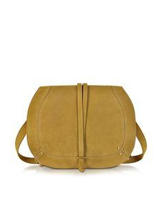 GABRIELLE'S AMAZING FANTASY CLOSET   Jérôme Dreyfuss Yellow Nestor Mustard Leather Large Shoulder Bag  