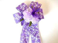 Feminine gift bow Birthday gift bow Floral gift by JDsBowCreations
