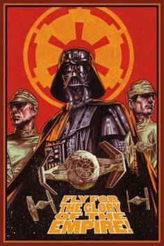 STAR WARS : Costumes and Toys : Star Wars Poster Fly for Glory - 61 x 91 cm