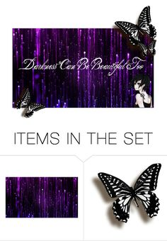 """Darkness is Beautiful"" by gummybear53 ❤ liked on Polyvore featuring art"