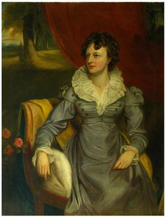 Mrs. Elrington, formerly Miss Charlotte Townshend, by Thomas Clement Thompson RHA (British, ca.1780, d. after 1858); oil on canvas;