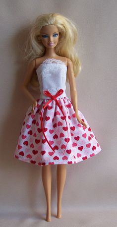 Handmade Barbie Doll Clothes White with by PersnicketyGrandma, $5.00