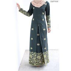 Batik Fashion, Abaya Fashion, Muslim Fashion, Fashion Dresses, Hijab Fashion Inspiration, Muslim Dress, Dress Sketches, Blouse Designs, Ready To Wear