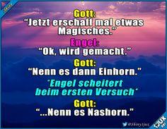 Hat erst beim zweiten Versuch geklappt :P #Einhorn #Einhörner #Entstehung #Witze #lachen #Humor