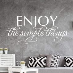 Enjoy the simple things - schöner englischer Spruch | wall-art.de