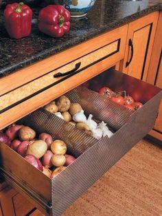 Smart Kitchen, Diy Kitchen Storage, Kitchen Cabinet Organization, Kitchen Drawers, Kitchen Pantry, Food Storage, New Kitchen, Kitchen Decor, Organization Ideas