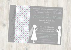 a3732970d8862ea732d2dc7067fab15b first communion invitations boy girl twins twin boy and girl first communion invitations printable diy pink,First Communion Invitations For Boy Girl Twins