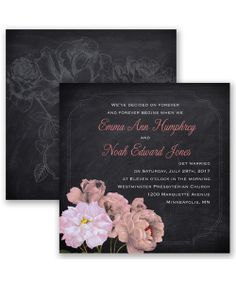 Ravishing Roses Wedding Invitation by David's Bridal: The start of a beautiful day is when you choose this gorgeous, two-sided, marquis size wedding invitation!