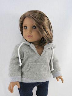 Grey Hoodie Jacket C 05 Fits American Girl Dolls New