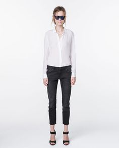 ZARA - DONNA - PANTALONI DENIM RELAXED FIT MEDIUM RISE