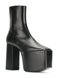 2059c661af7 Balenciaga Black Leather Platform 130 boots
