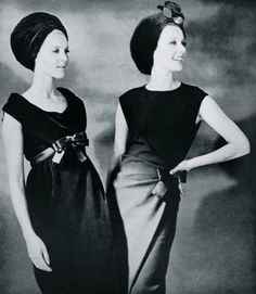 Dresses by Jean Patou and Guy Laroche, 1964