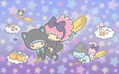 【Android iPhone PC】Little Twin Stars Wallpaper 201710 十月桌布 日本官方Twitter票選萬聖節版