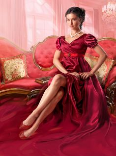 The Art of Chris Cocozza: Romance Gallery - The Hellion by Christi Caldwell Satin Dresses, Bridal Dresses, Gowns, Medieval Princess, Photo Star, Romance Art, Mode Style, Girl Pictures, Lady In Red