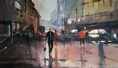 After the Rain, Bath Watercolor Artists, Watercolour Painting, Artist Life, Gallery, Cities, Inspire, Inspiration, Paint, Water Colors
