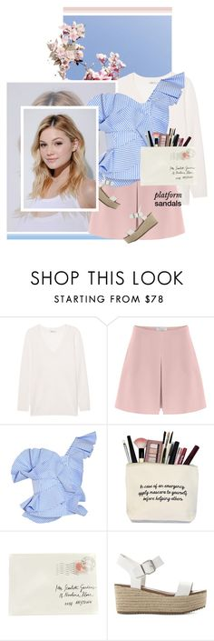 """""""Up and Away"""" by chebear ❤ liked on Polyvore featuring T By Alexander Wang, Neutrogena, Valentino, Johanna Ortiz, Moschino, Steve Madden, platforms and oneshoulder"""