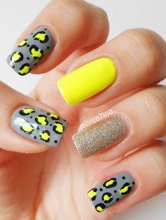 Marce7ina's Nai7 Art: Cheetah print  #nail #nails #nailsart