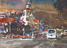 Fox Theater by Don O'Neill, Riverside Artist and my daughter's Grandfather.