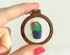 Cactus Embroidery Hoop Art / Succulents / by LittleFlossStudio