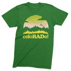 ColoRADo! - Colorado tshirt A vintage style Colorado shirt letting everyone know how RAD it is.  This graphic tee is super comfy too!