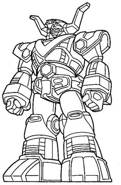 Cool Power Ranger Robot Coloring Pages Coloring Pages For Boys