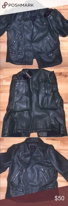 Zara faux leather jacket Size XL emerald green jacket brand new. I purchased from another seller and I love it but there sleeves are too short for my longer arms. WILLING TO TRADE. Zara Jackets & Coats