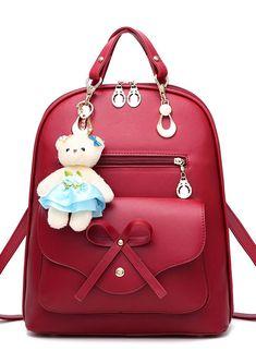 Teenagers Leisure Backpack, 2018 Men And Women Backpacks, Leather School Bags For Teenagers, Backpacks Female Rucksack. #Teenagers #Bags #WomenBackpacks