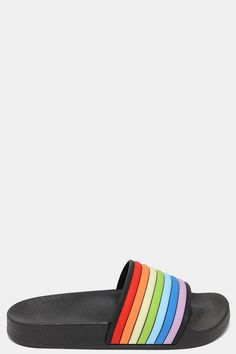 Get Rainbow Strap Black Sliders for only £5.00 exclusively at – SinglePrice