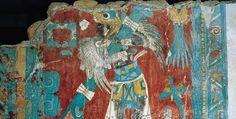Murales de la #zonaarqueológica de #Cacaxtla #Tlaxcala