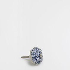 Πόμολο σε σχήμα λουλουδιού μπλε (σετ των 2)
