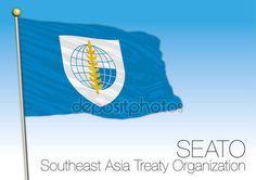 SEATO, Southeast Asia Treaty Organization flag and symbol — Vettoriali  Stock © frizio #154036298