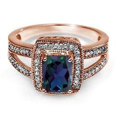 Kay - Lab-Created Alexandrite Diamond Ring Rose Gold