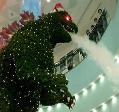 Christmas Tree Godzilla