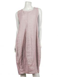 Damen Leinenkleid, pastell rosa von Spaziodonna bei www.meinkleidchen.de